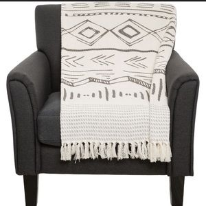 "AM Home Textiles Aztec Throw Blanket - 50x60"" Grey"
